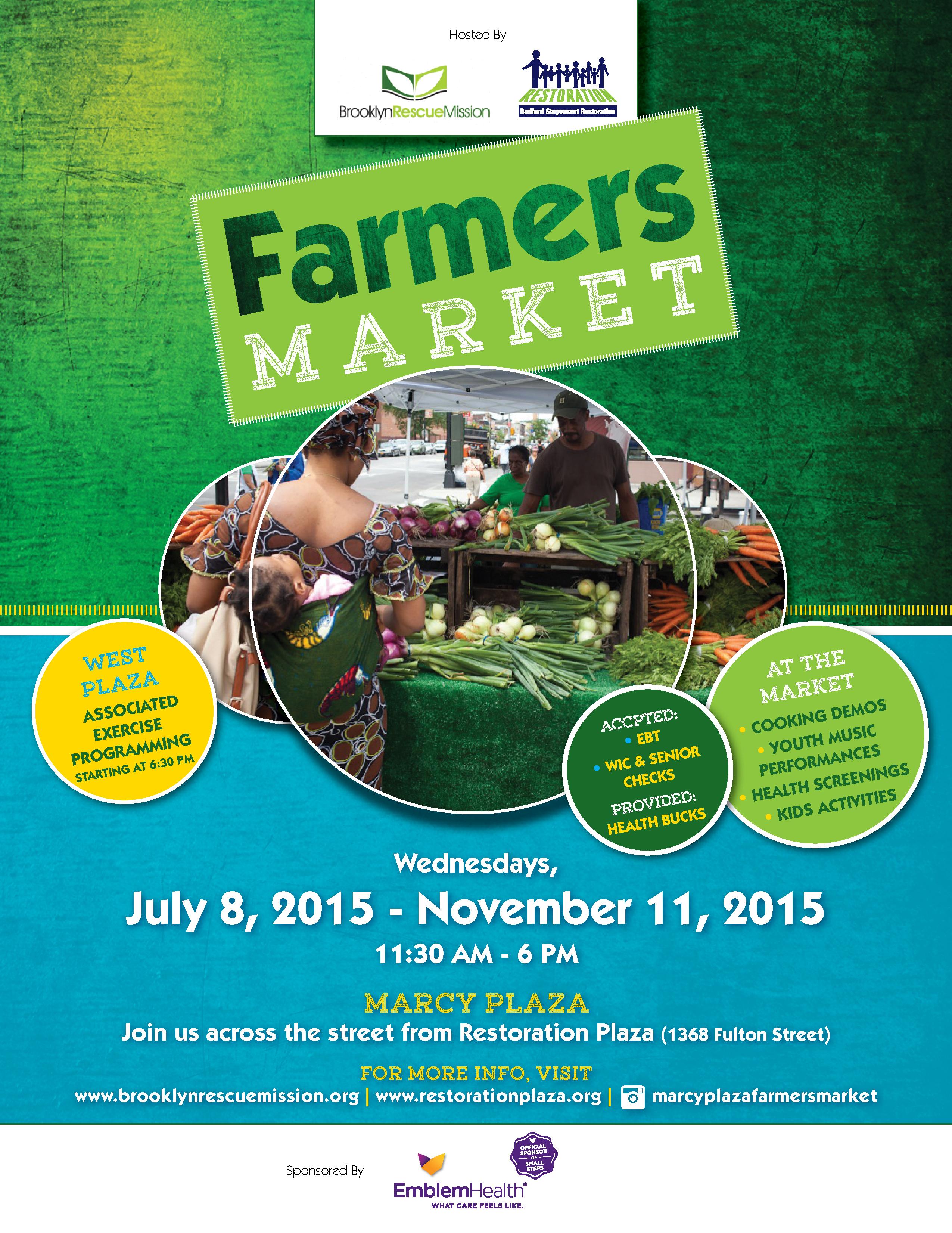 Marcy Plaza Farmers Market Flyer 2015